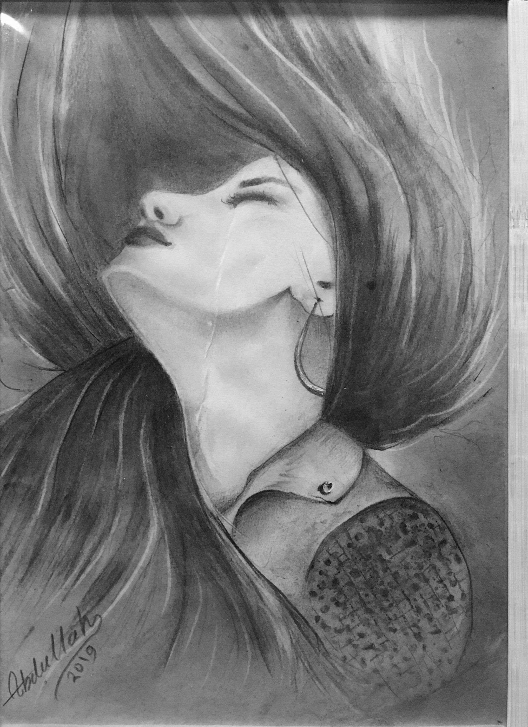 رسم بالفحم والرصاص Interesting Faces Art Drawings Female Sketch