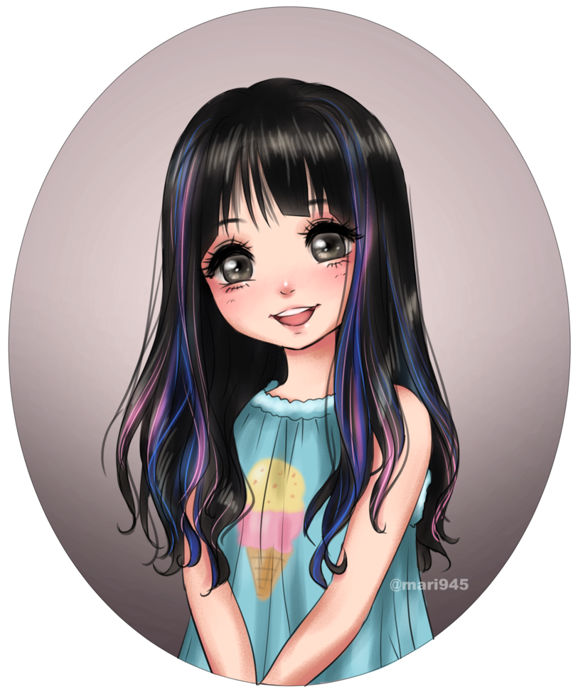 Cute Smile by Mari8 on DeviantArt  Anime art girl, Girly art