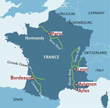 Map Of France Rivers.France River Cruise Map Let S Go France River Paddle Boarding