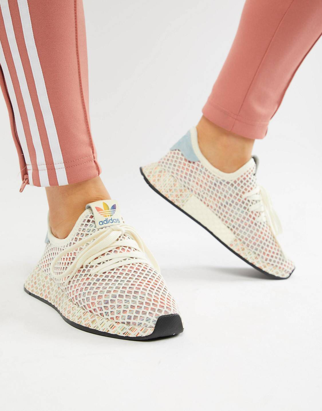 Adidas Originals – Pride Deerupt – Sneaker aus Netzstoff in