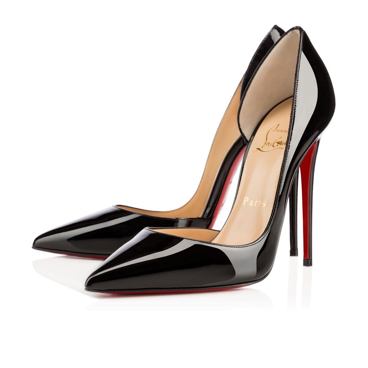 superior quality a88bc 4857a Iriza 120 BLACK Patent - Women Shoes - Christian Louboutin ...