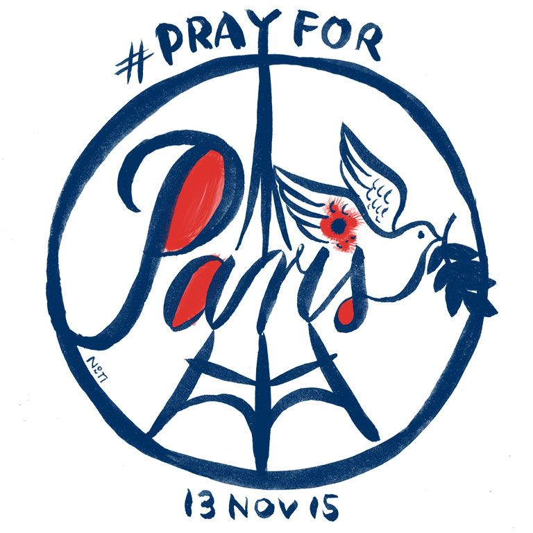 (Diary-Picture 172/365) 13 NOV – #prayforparis PEACE for PARIS – PEACE for the whole world! © illustration by www.nontirakigle.de