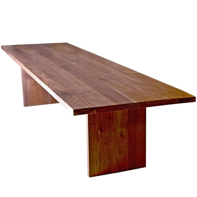 shimna hardwood black walnut communal farmhouse table   farmhouse