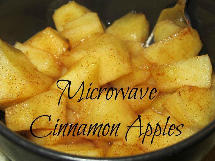 Microwave cinnamon apples a healthy snack, low calorie