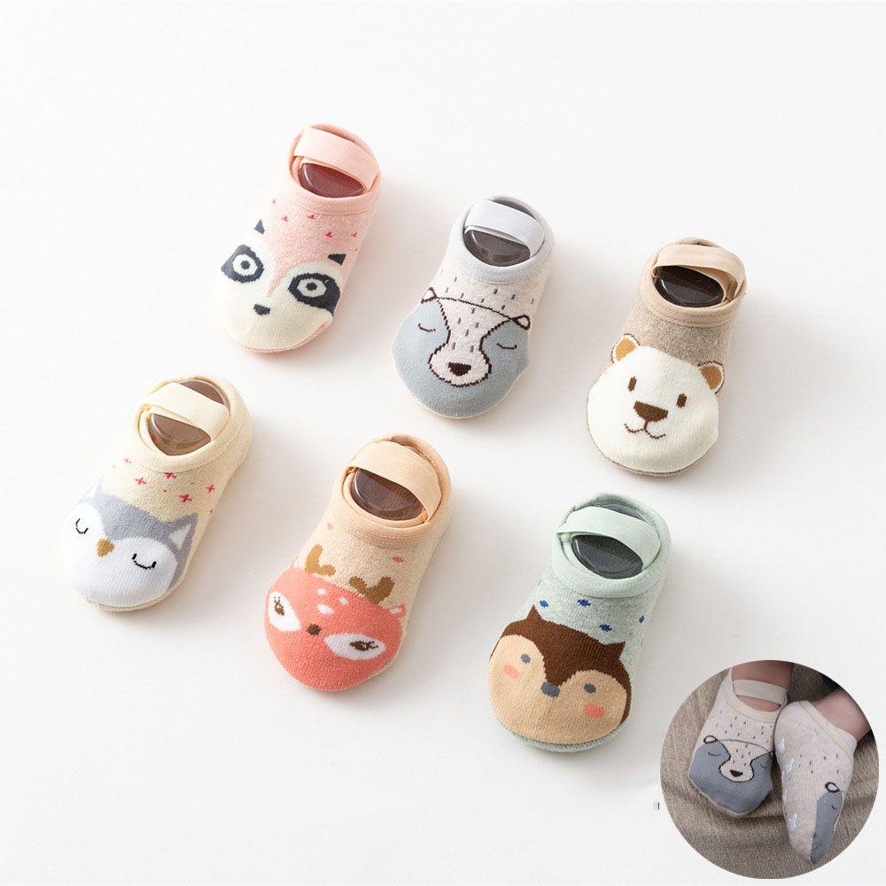 Unisex Floor Socks Non-Slip Baby Toddler Cartoons 1-3Years Old Newborn