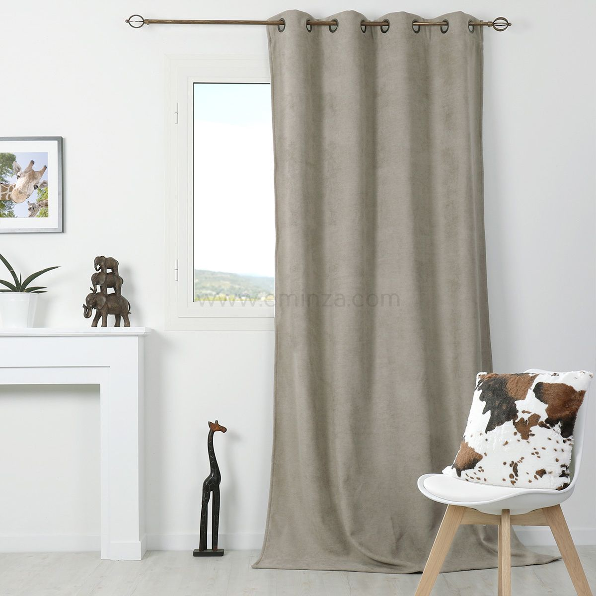 Rideau Montagne Taupe Rideau Occultant Isolant 140 X H260 Cm Alaska Taupe Cocooning