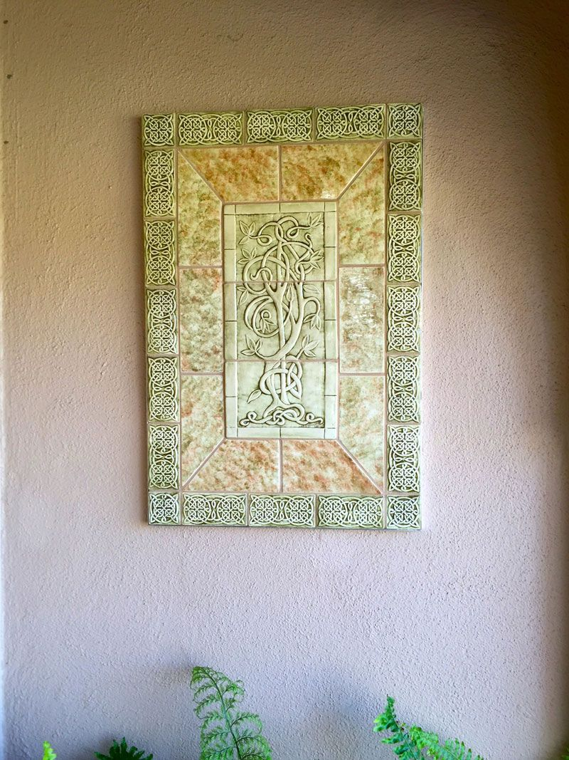Relief carved Celtic Tile set http://earthsongtiles.com http ...