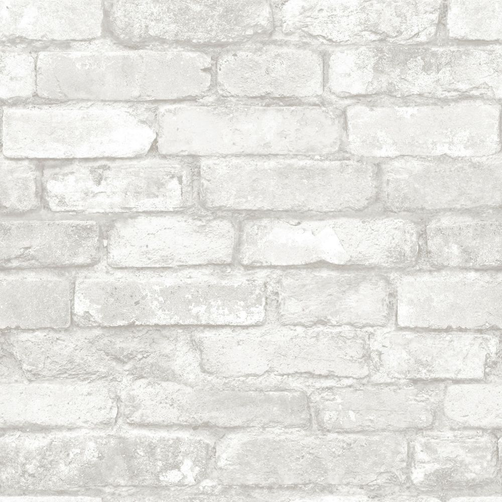 Nuwallpaper Grey And White Brick Peel And Stick Wallpaper The Home Depot Canada Removable Brick Wallpaper Brick Effect Wallpaper White Brick