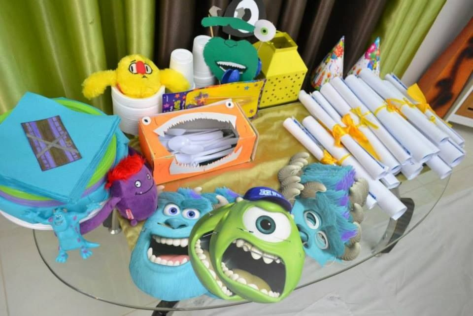 Monsters inc / monsters university party ideas for theme