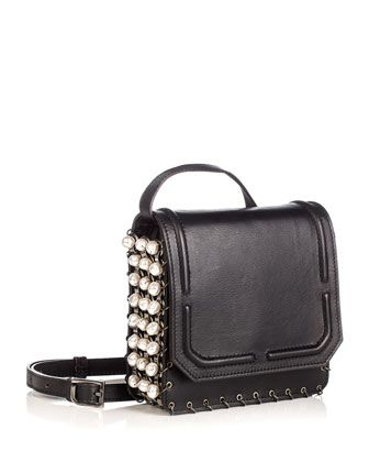 Lypton Chain and Pearly-Detail Crossbody Bag, Black by Dannijo at Bergdorf Goodman.