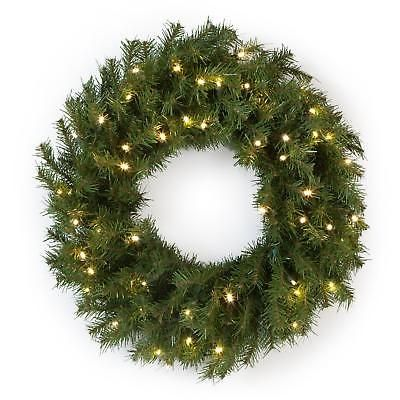 Pre Lit Wreath Norwood Fir 24in Battery