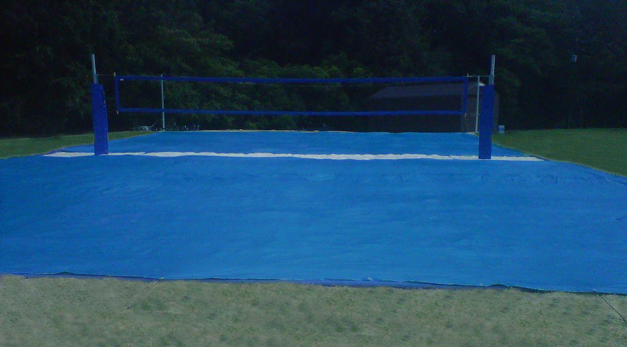 50 X 40 Basic Tarp Style Beach Volleyball Court Covers Beach Volleyball Court Beach Volleyball Volleyball Court Backyard
