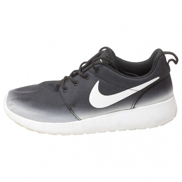 a5aa69955515 Pre-owned Nike Black Cloth Trainers Roshe Run ( 83) ❤ liked on Polyvore  featuring shoes