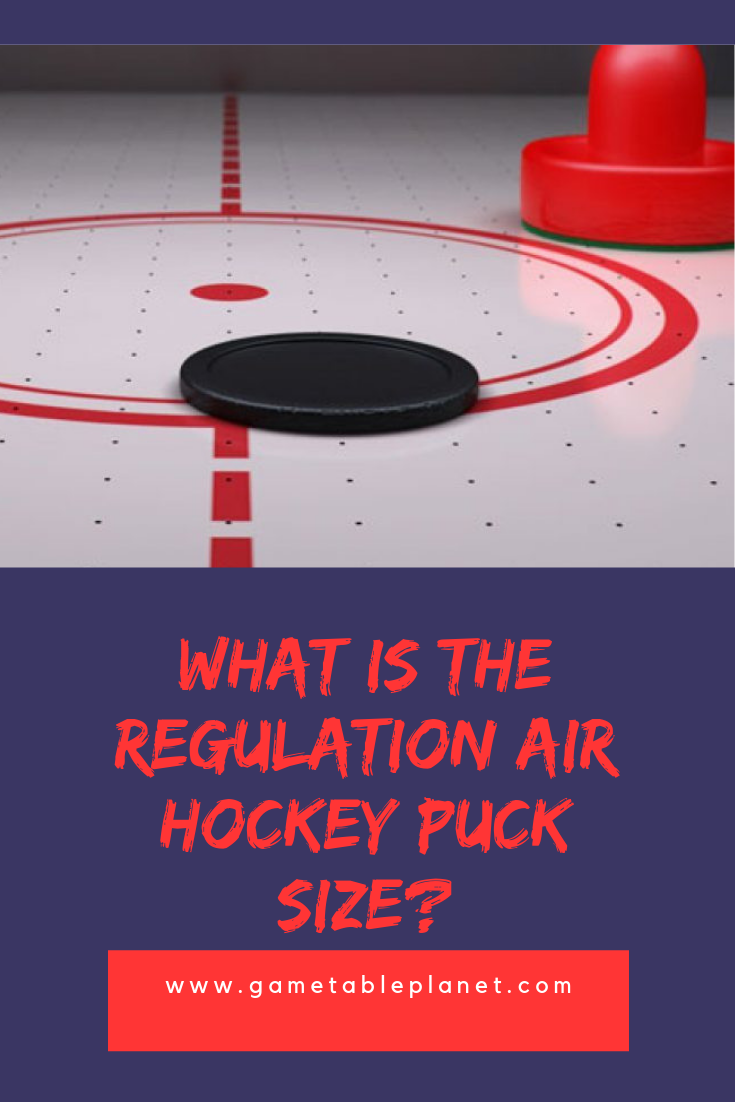 What is the Regulation Air Hockey Puck Size? Air hockey