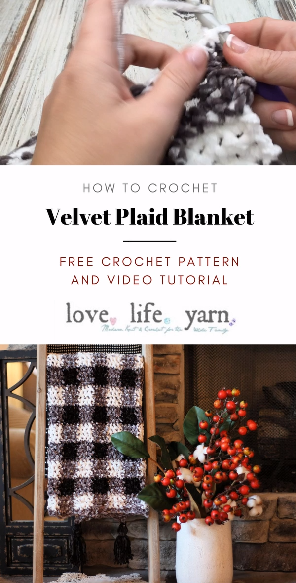 Photo of Velvet Plaid Blanket – Free Crochet Pattern