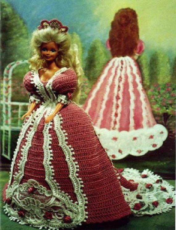 Häkeln Sie Mode Puppe Barbie Pattern - #180 VICTORIA IN ROSE ...