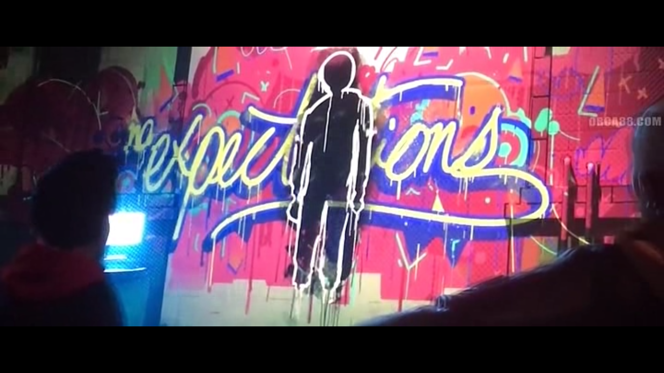 Graffiti Art Of Expectations By Miles Morales In The Movie