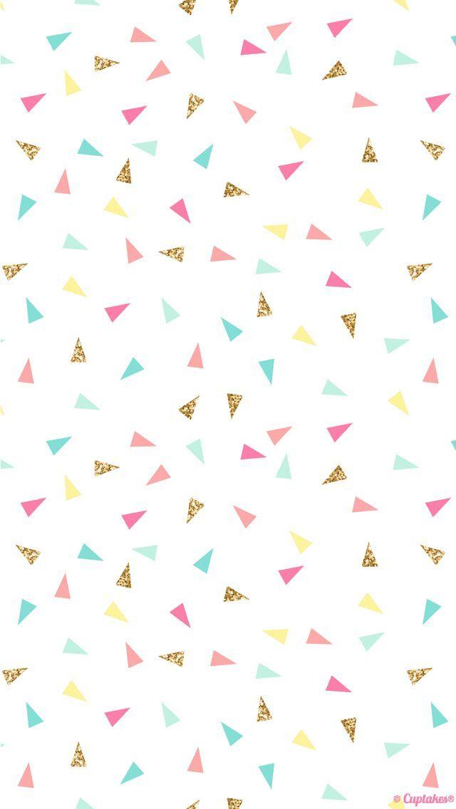 pink mint turquoise gold mini triangle confetti iphone