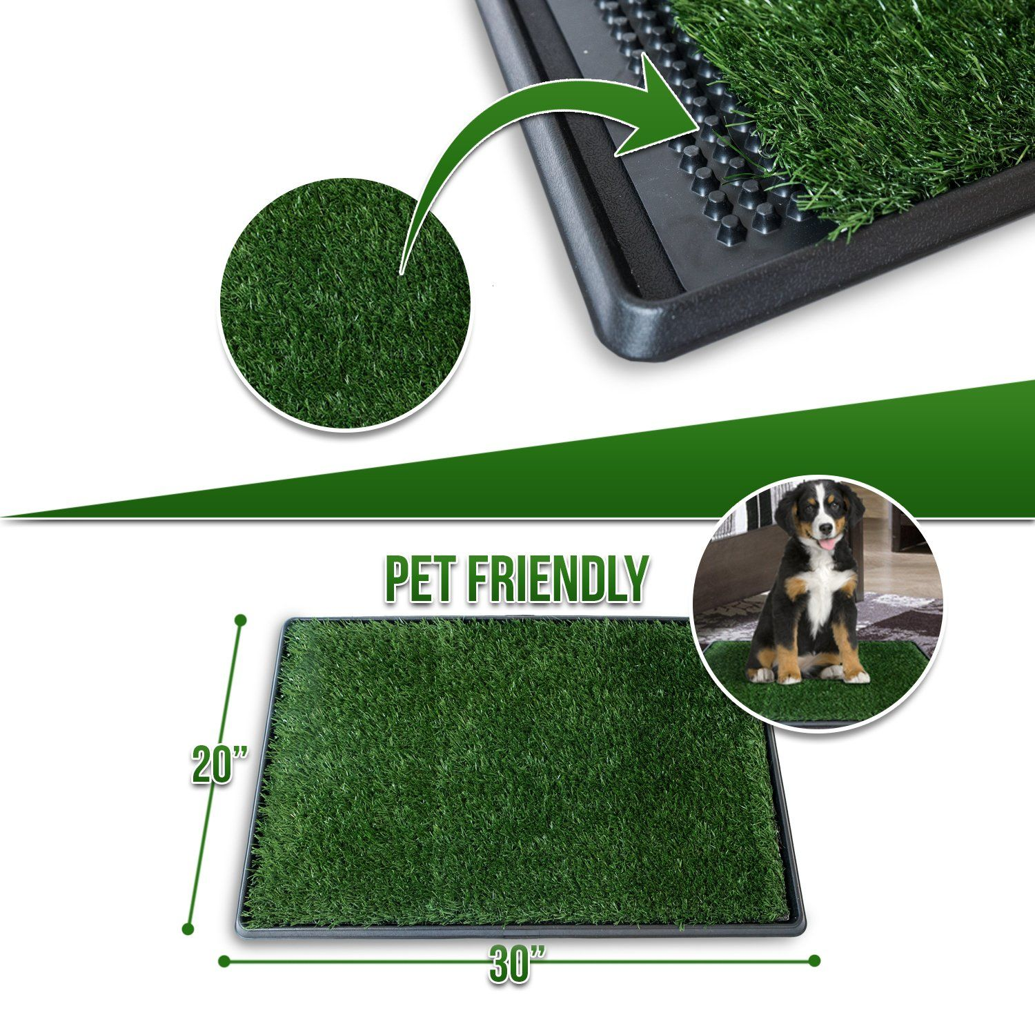 Ideas In Life Dog Potty Grass Pee Pad C Artificial Pet Grass Patch For Dogs To Pee On Great For Puppy Potty Training As An Ind Pet Grass Dog Potty Grass