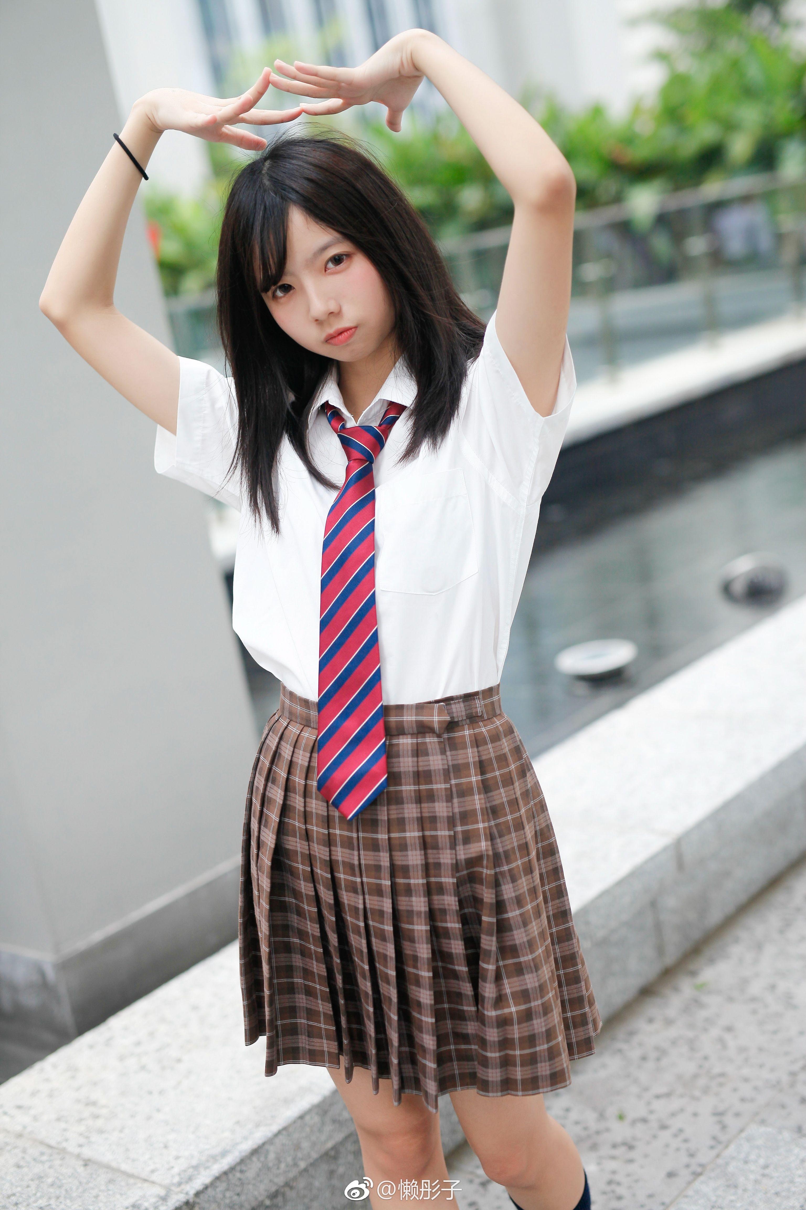 Asian schoolgirl mound #1