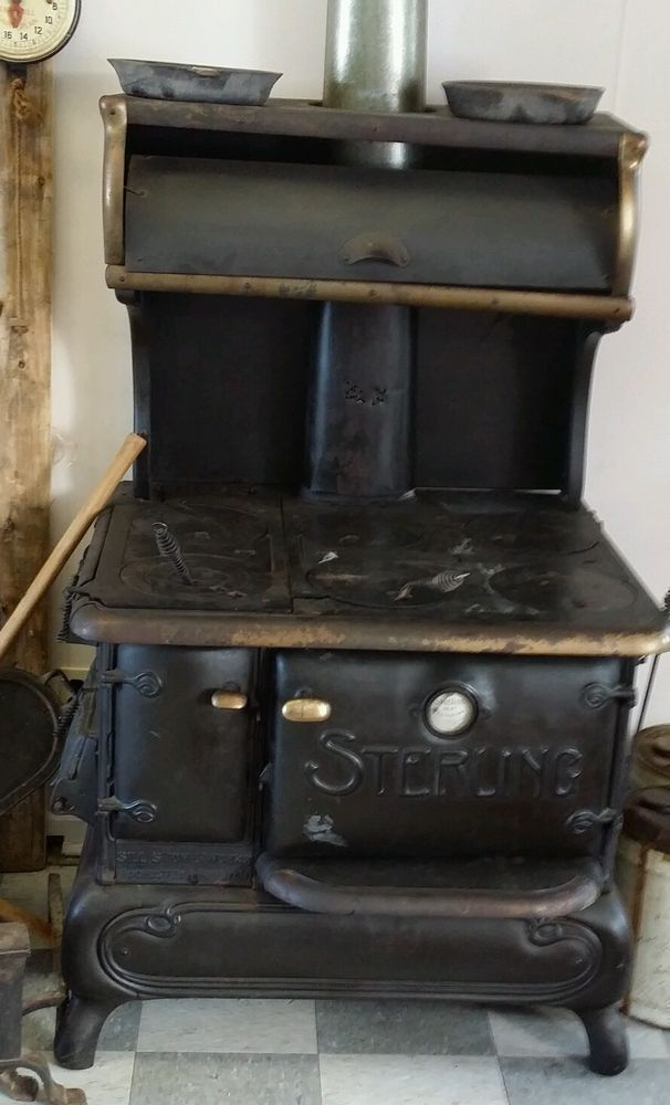 old and antique cole stoves | 1000x1000.jpg - Antique Sterling Sill Wood Coal Cook Stove Rochester 1911 Stove