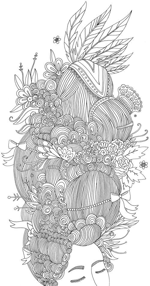 Love This Coloring Page From The New Book I My Hair A Of Braids Coils And Doodle Dos