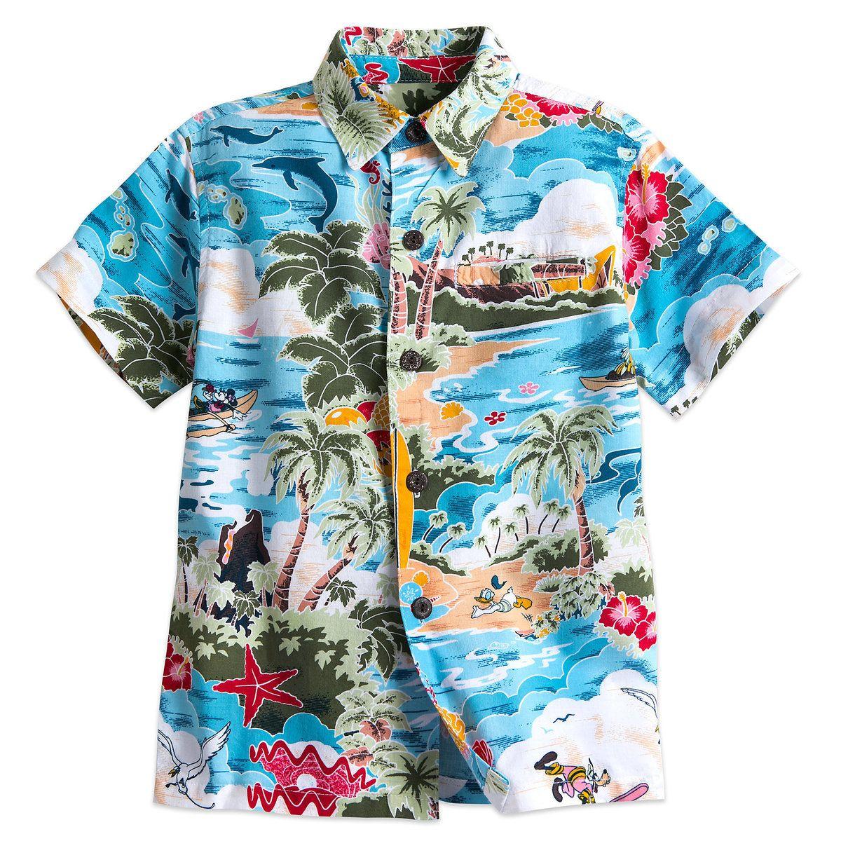 bb2b266f Thumbnail Image of Mickey Mouse and Friends Hawaiian Shirt for Boys # 1