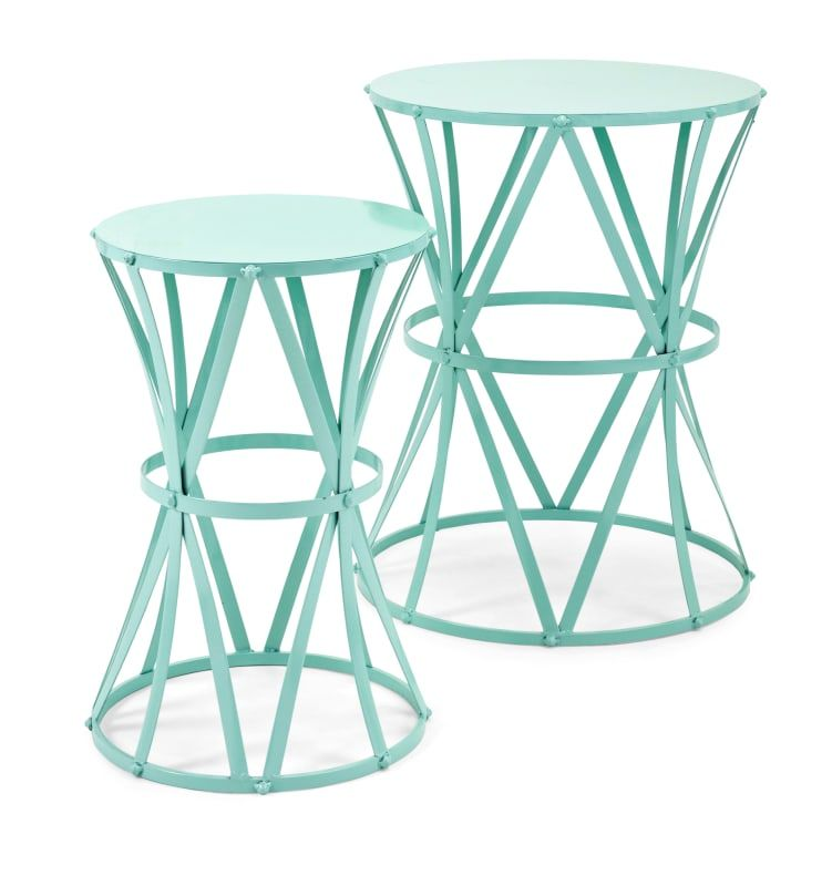 Imax Home 11941 2 Hillary Two Piece Iron Table Set Green Indoor