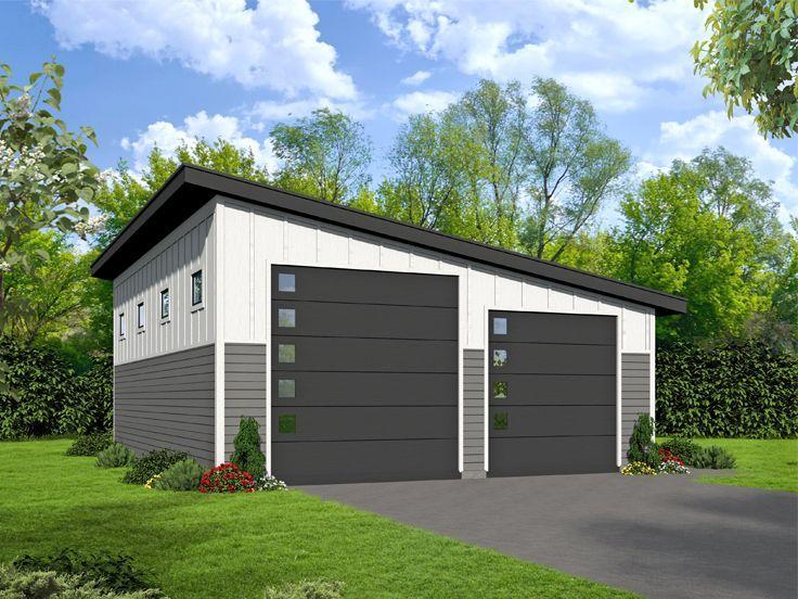 062g 0111 Modern Rv Garage Plan Modern Garage Plans