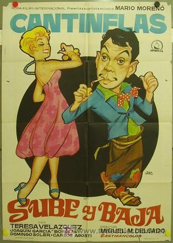 Cantinflas Sube Y Baja 1948 Cine Mexicano Epoca De Oro Peliculas Del Cine Mexicano Cantinflas Carteles De Cine