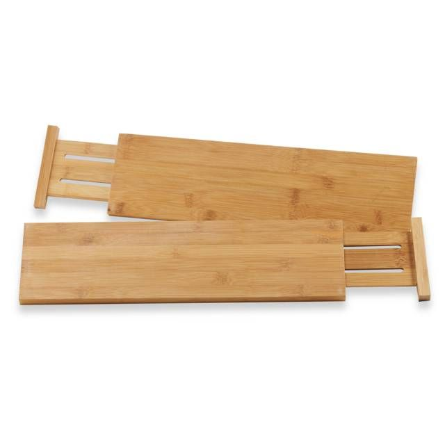 Lipper International Bamboo Kitchen Drawer Dividers (Set of 2) from Bed Bath and Beyond