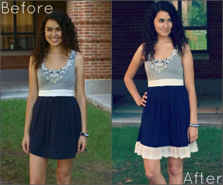 Kleid verlängern // DIY | Allungare vestito, Abiti alla moda