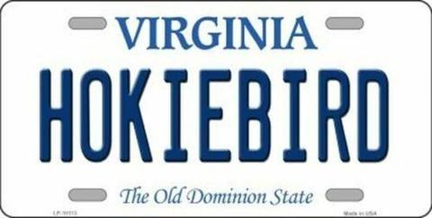 Hokiebird Virginia State Background Novelty License Plate ...