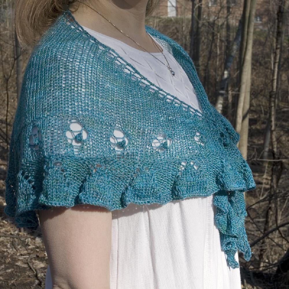 Simply Ruffled Shawlette | Shawl, Knit patterns and Patterns
