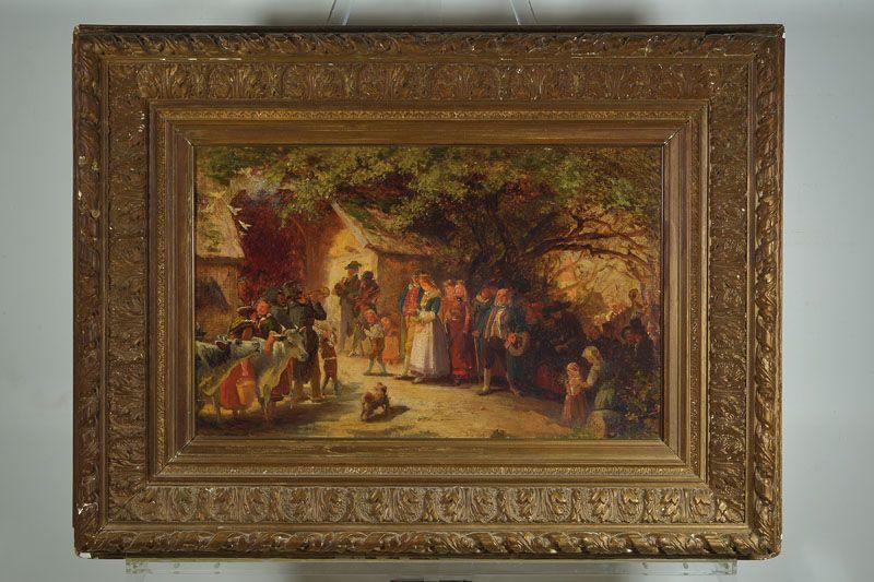 Franz Kels, 18281893 Düsseldorf, Hochzeitszug