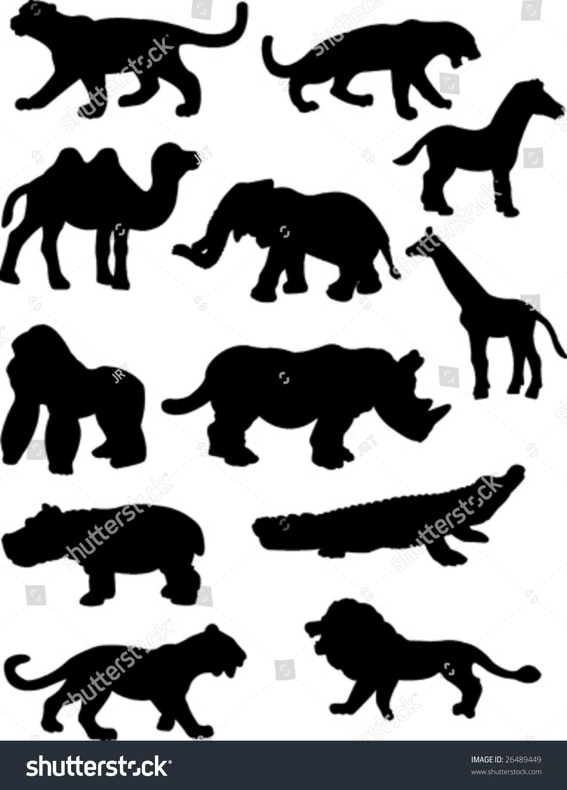 Jungle Animal Silhouettes Animal Silhouette Jungle Animals Safari Animals