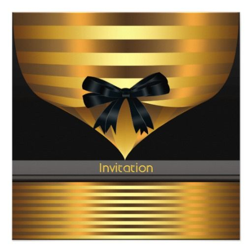 All Occasion Black Gold Party Invitation Zazzle Com Black Gold Party Gold Party Party Invite Template