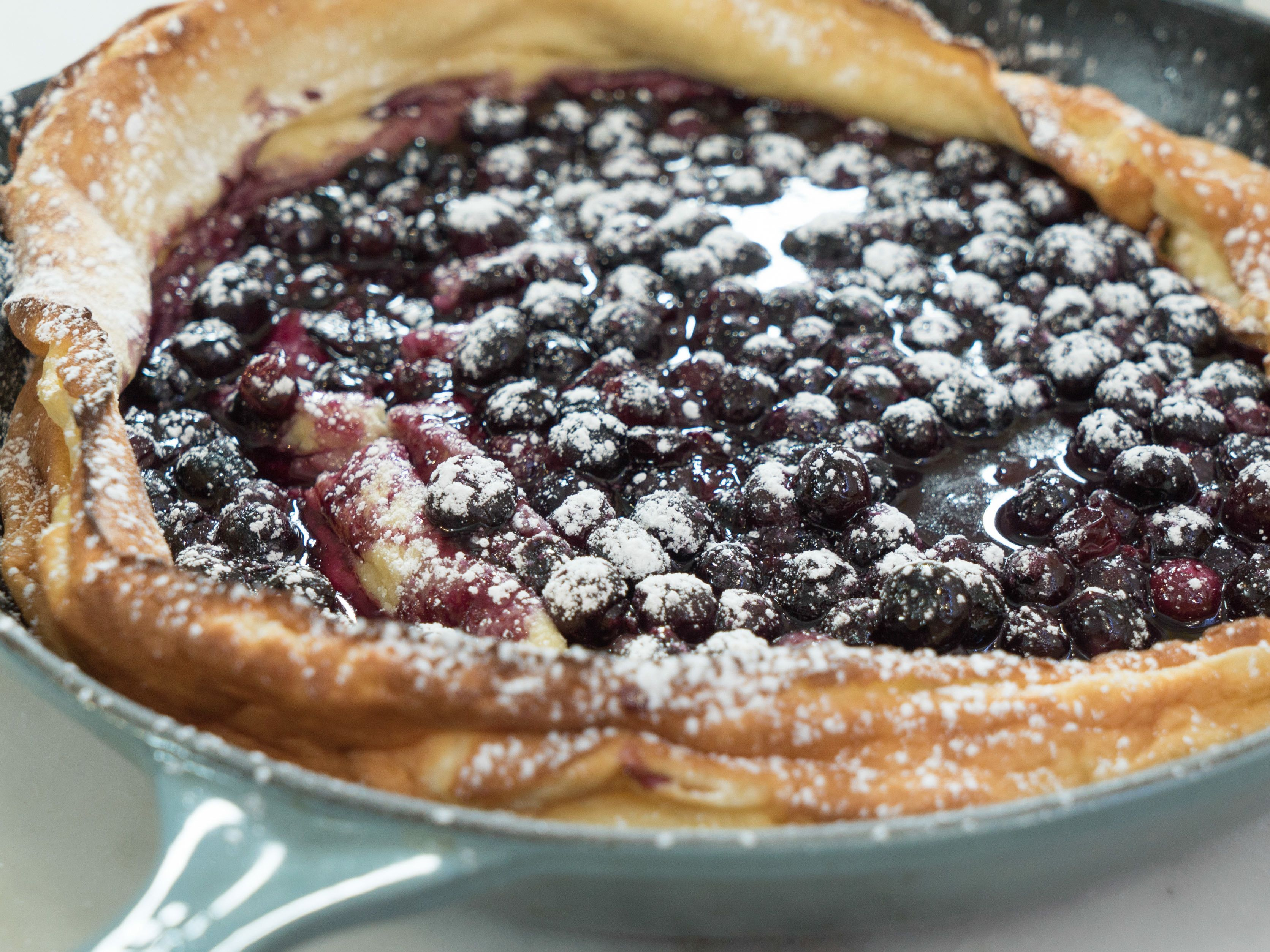 Dutch Baby With Blueberry Orange Compote Recipe Food Network