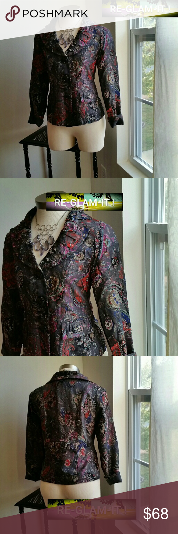 ANALOGY. ....STUNNING GORGEOUS. ..BLAZER.. ...ADDING INFO SOON...EXCELLENT CONDITION  ...NORMAL WEAR ...NO FLAWS... ...A MUST HAVEEE... ...COLOR....MULTIPLE COLORS... ...IS GREAT WITH ABOUT JUST ANY STYLE .... analogy Jackets & Coats Blazers