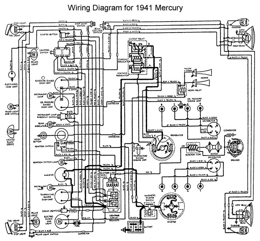 Wiring For 1941 Mercury