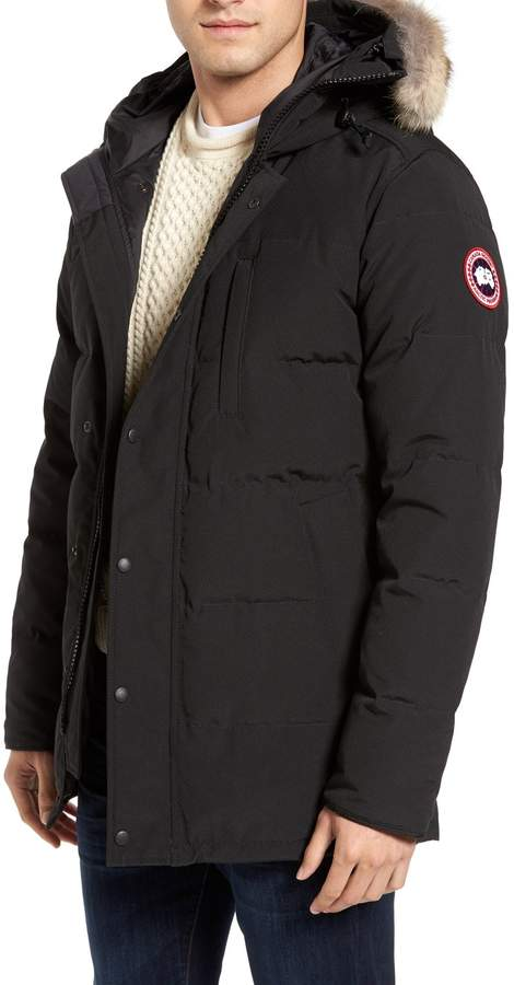 Men S Canada Goose Carson Slim Fit Hooded Parka With Genuine