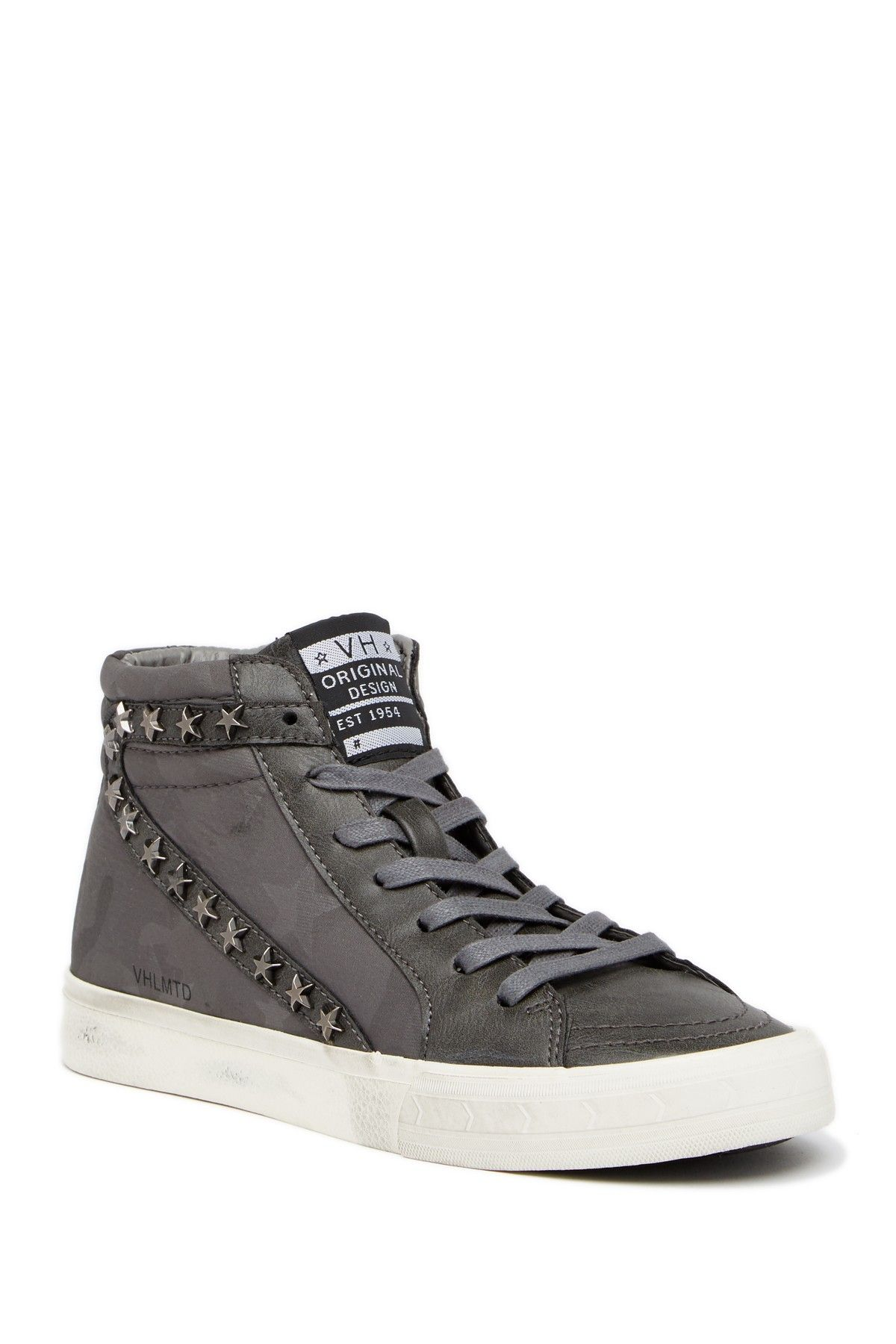 d8512eab73f Carbone High-Top Studded Sneakers