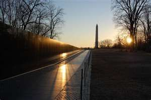 Vietnam War Memorial in Washington, DC