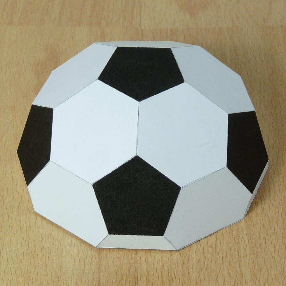 Открытка в виде футбольного мяча своими руками