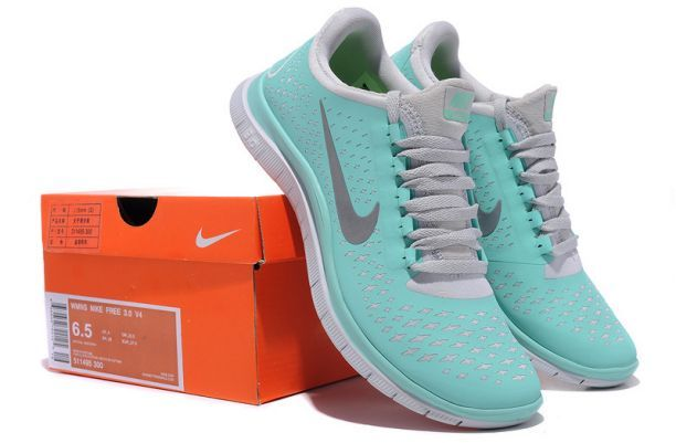 Nike Free 3.0 V4 Women's New Green Reflectiv Silver White tiffany blue Running Shoes