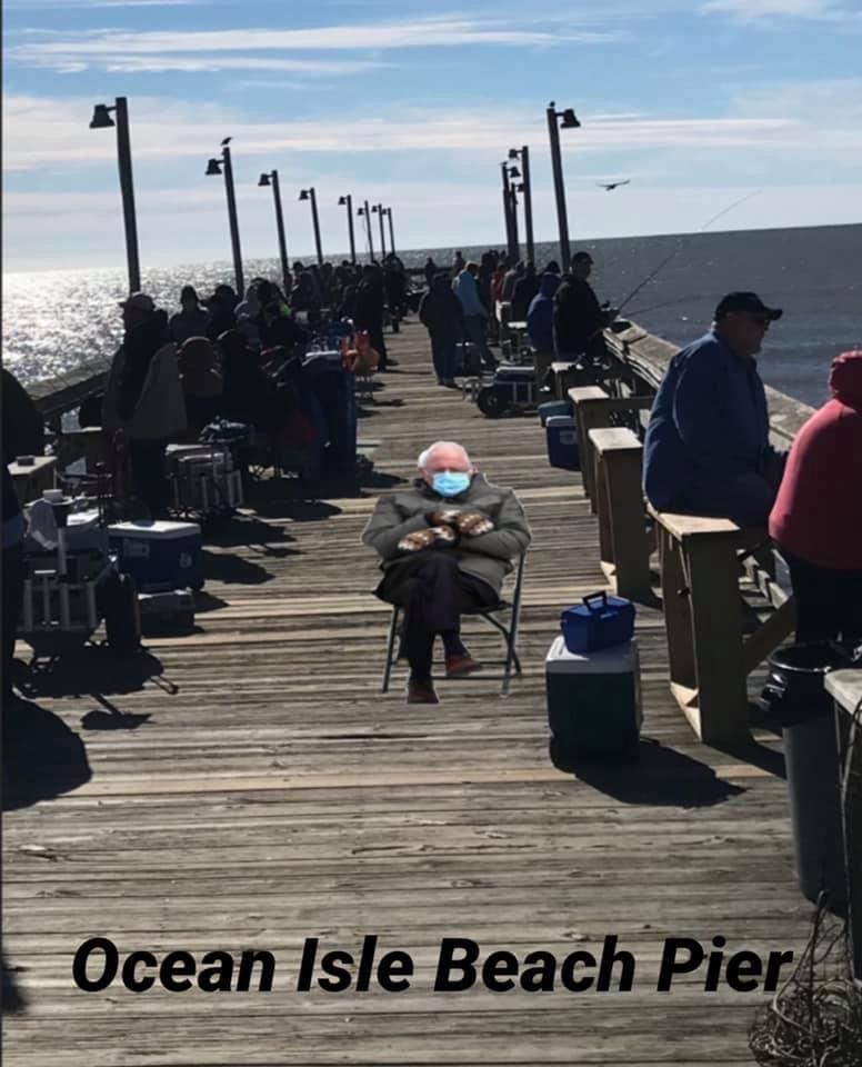 Pin By Ritter Honeycutt On Best Bernie Sanders Memes In 2021 Ocean Isle Beach Beach Memes