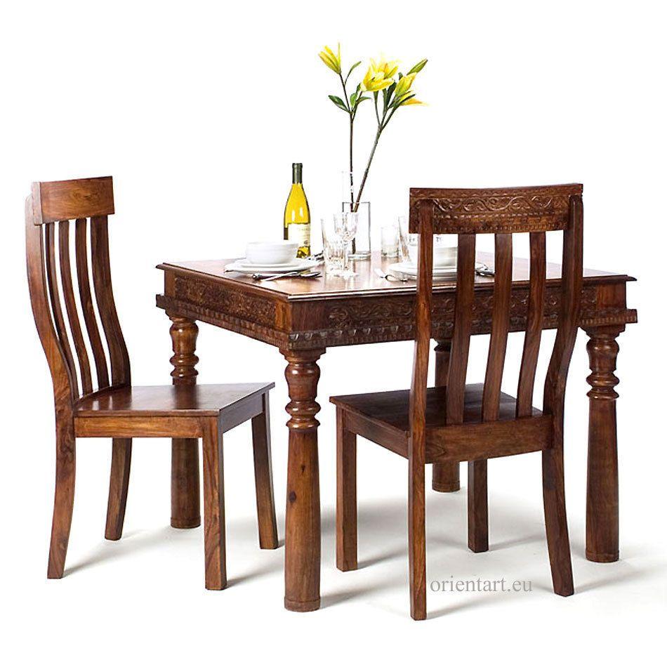 Schön Esstisch 100x100 Referenz Von Antik-look Kolonialstil Orient Massiv Holz Tisch Küchentisch