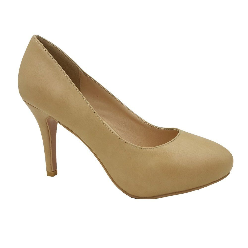 MGD-70 Womens Casual Slip-On Pump NUDE WOMEN