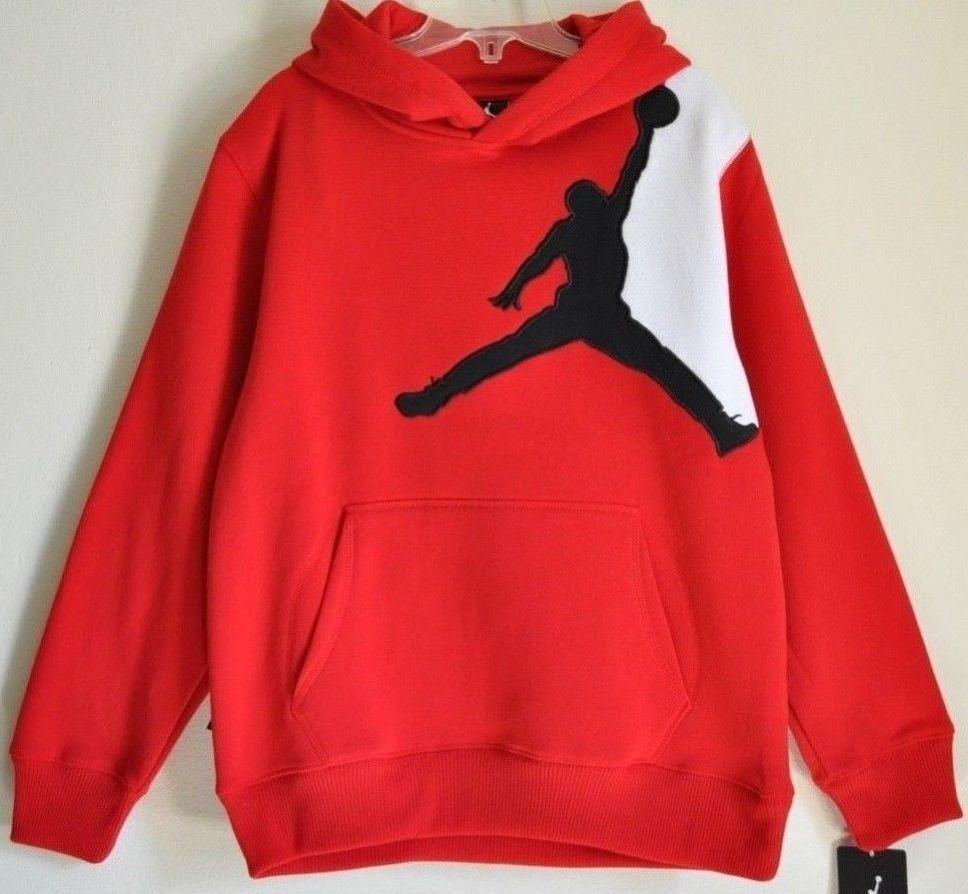 42bd179ef6f259 Nike Air Jordan Logo Boys Kids Hoodie Pullover Sweater Red Size Large 12-13   NikeAirJordan  Everyday  23.91