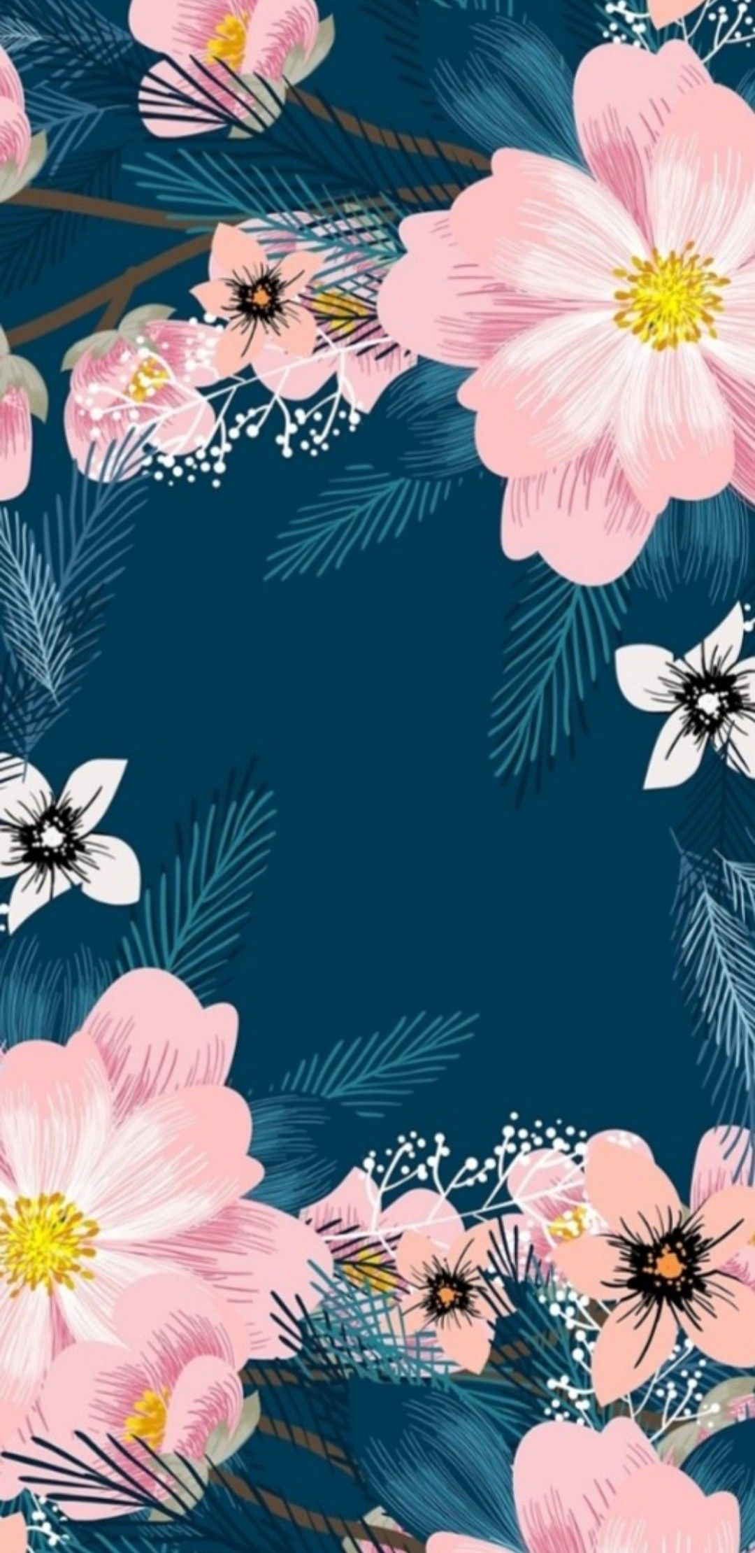 Floral Print Via Nikkla Designs Flowery Wallpaper Pretty